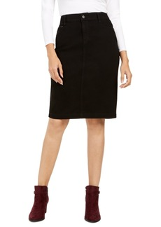 Charter Club Denim Tummy-Control Skirt, Created for Macy's
