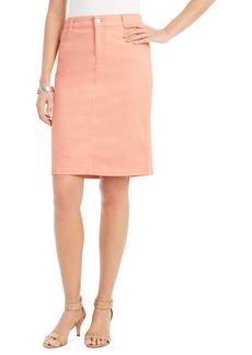 Charter Club Denim Tummy-Control Skirt, Created for Macy's