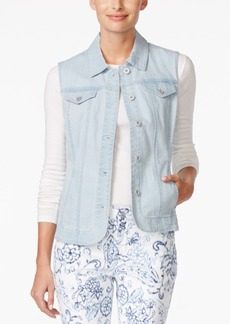Charter Club Denim Vest, Only at Macy's
