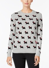 Charter Club Petite Dog-Print Sweater, Created for Macy's