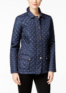 Charter Club Dot-Print Quilted Jacket, Only at Macy's