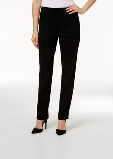 Charter Club Flocked Dot Print Slim Leg Pants, Only at Macy's