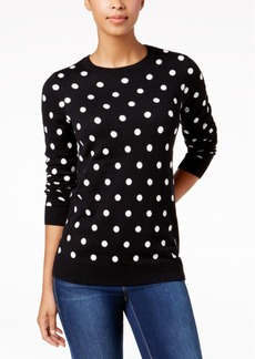Charter Club Petite Dot-Print Sweater, Created for Macy's