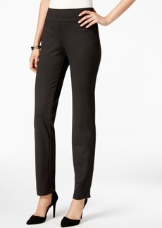 Charter Club Cambridge Ponte Dot-Print Slim-Leg Pants, Only at Macy's