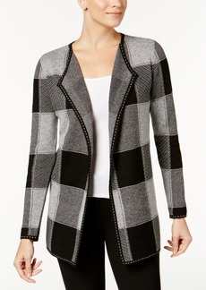 Charter Club Petite Checkered Completer Cardigan, Created for Macy's