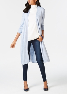 Charter Club Petite Open-Front Duster Cardigan, Created for Macy's