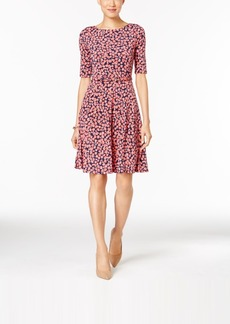 Charter Club Elbow-Sleeve Fit & Flare Dress, Only at Macy's