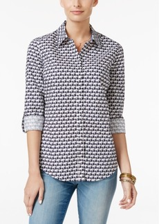 Charter Club Elephant-Print Shirt, Only at Macy's