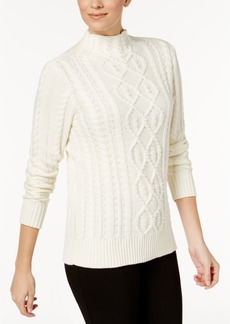 Charter Club Embellished Cable-Knit Sweater, Created for Macy's