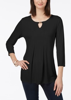 Charter Club Embellished Keyhole Top, Created for Macy's