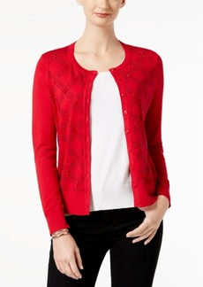 Charter Club Embellished Long-Sleeve Cardigan, Created for Macy's