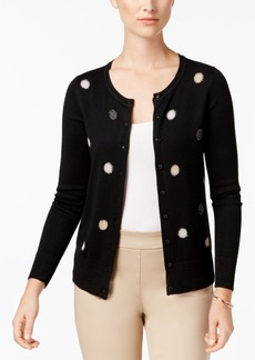 Charter Club Embellished Metallic Cardigan, Created for Macy's