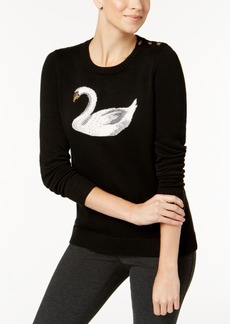 Charter Club Embellished Swan Sweater, Created for Macy's