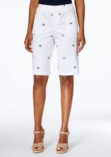 Charter Club Embroidered Bermuda Shorts, Only at Macy's