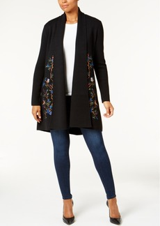 Charter Club Embroidered Cardigan, Created for Macy's