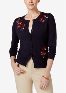 Charter Club Embroidered Cardigan, Only at Macy's