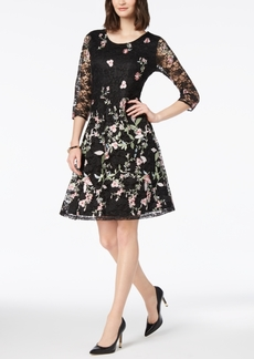 Charter Club Embroidered Lace Dress, Created for Macy's
