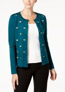 Charter Club Embroidered Long-Sleeve Cardigan, Created for Macy's