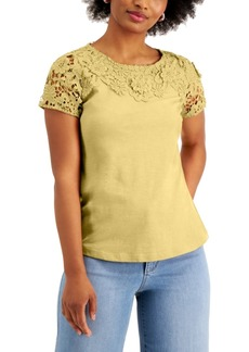 Charter Club Embroidered T-Shirt, Created for Macy's