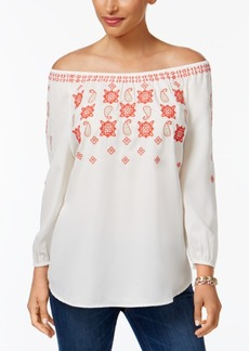 Charter Club Embroidered Top, Created for Macy's