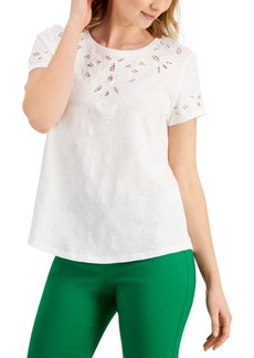 Charter Club Eyelet-Embroidered Top, Created for Macy's