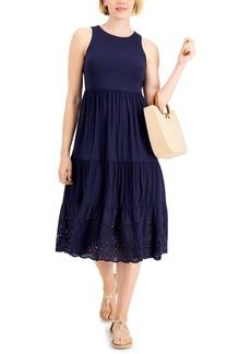 Charter Club Eyelet-Hem Midi Dress, Created for Macy's