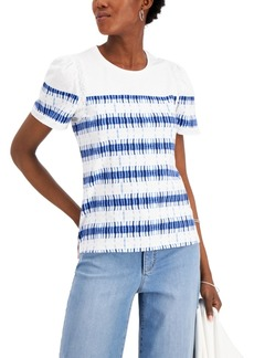 Charter Club Eyelet-Inset T-Shirt, Created for Macy's