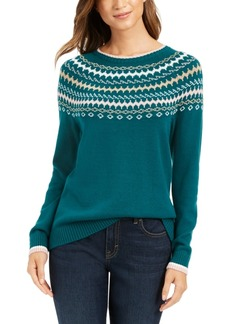 Charter Club Fair Isle Sweater, Created For Macy's