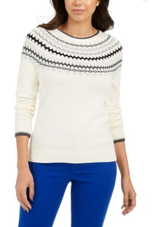 Charter Club Fair Isle Sweater, Created For Macy's