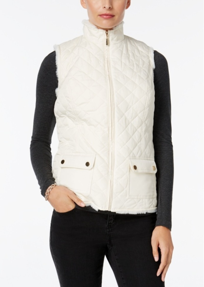 Charter Club Faux-Fur-Lined Puffer Vest, Only at Macy's