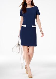 Charter Club Faux-Pocket Sheath Dress, Created for Macy's