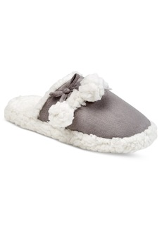 Charter Club Faux Sherpa Scuff Slippers, Only at Macy's