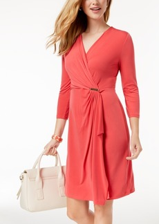 Charter Club Faux-Wrap Dress, Created for Macy's