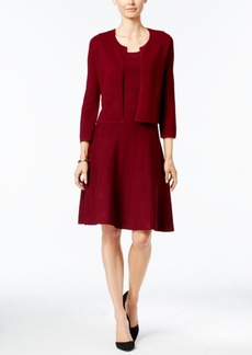 Charter Club Fit & Flare Sweater Dress with Bolero Jacket, Only at Macy's