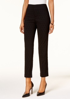 Charter Club Foil Ponte Slim-Leg Pants, Created for Macy's