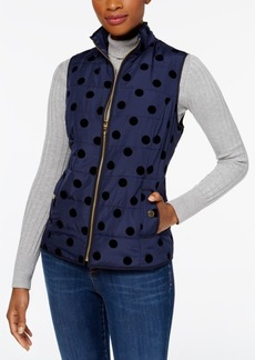 Charter Club Velour Dot Vest, Created for Macy's
