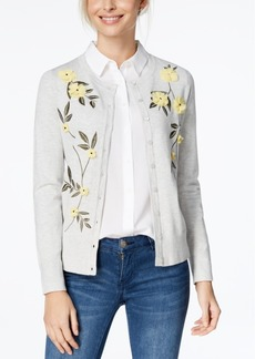 Charter Club Floral Applique Cardigan, Created for Macy's