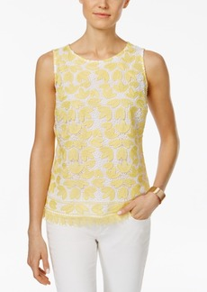 Charter Club Floral-Lace Tank Top, Created for Macy's