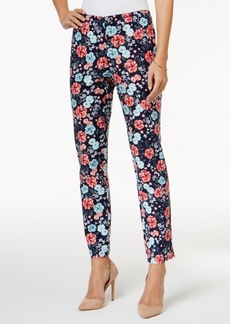 Charter Club Floral-Print Ankle Pants, Only at Macy's