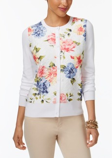Charter Club Floral-Print Lace Cardigan, Only at Macy's
