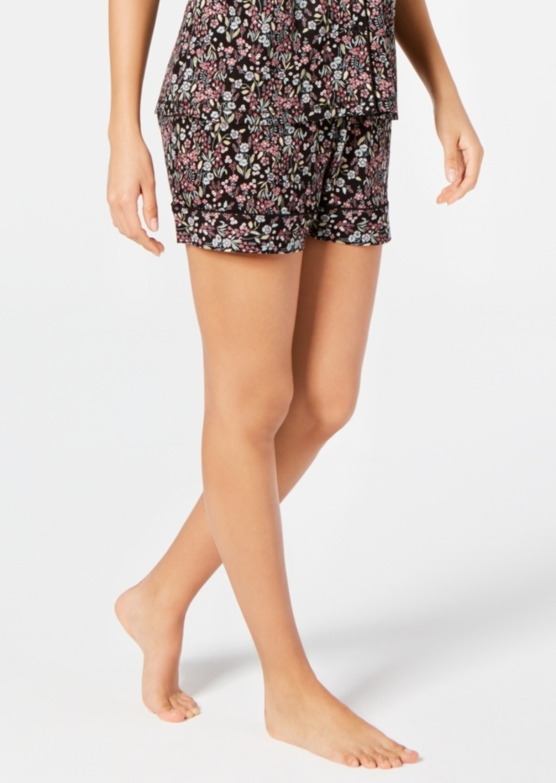 Charter Club Cotton Printed Sleep Shorts, Created for Macy's