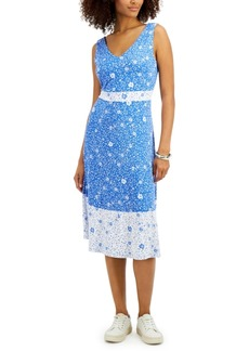 Charter Club Floral Sleeveless Dress, Created for Macy's