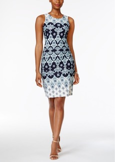 Charter Club Foulard-Pattern Shift Dress, Only at Macy's