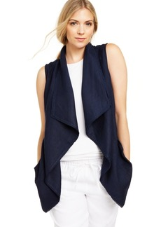 Charter Club Frayed-Trim Draped Vest, Created For Macy's