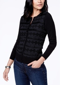 Charter Club Fringe-Trim Cardigan, Created for Macy's