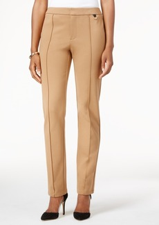 Charter Club Front Seam Ponte Slim Leg Pant With D-Ring, Only at Macy's