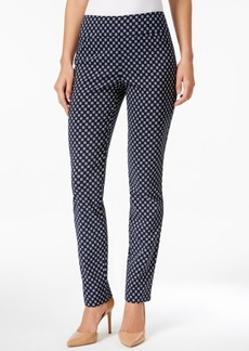 Charter Club Geometric-Print Slim-Leg Pants, Only at Macy's