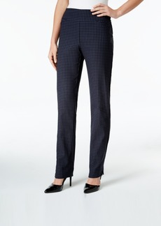 Charter Club Gingham-Print Pull-On Pants, Only at Macy's