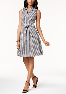 Charter Club Gingham-Print Shirtdress Dress, Created for Macy's