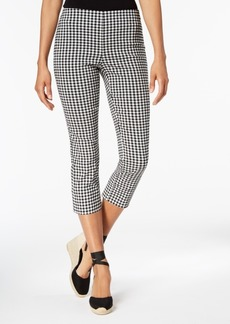 Charter Club Gingham Tummy-Control Capri Pants, Created for Macy's